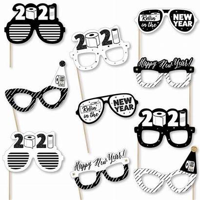 Glasses Booth Props Eve Paper Card Rollin
