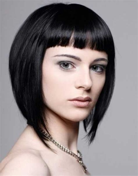 15 best inverted bob with bangs short hairstyles 2018