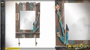 Decoration Murale Miroir : d coration murale bois et miroir avec deux pat res style ~ Teatrodelosmanantiales.com Idées de Décoration