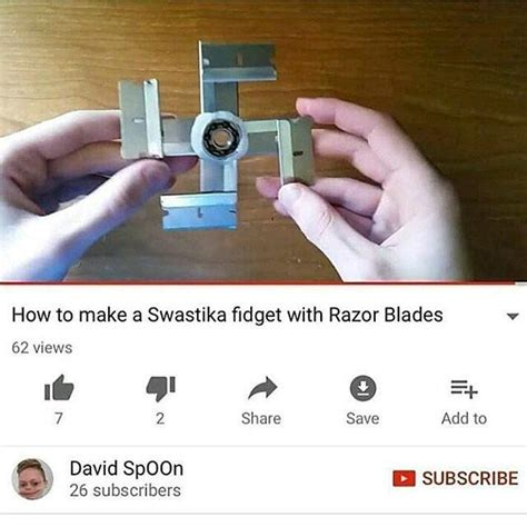 How To Make A Meme - how to make a swastika fidget with razor blades fidget spinners know your meme
