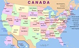 Map of USA with the States and Capital Cities - Talk and ...