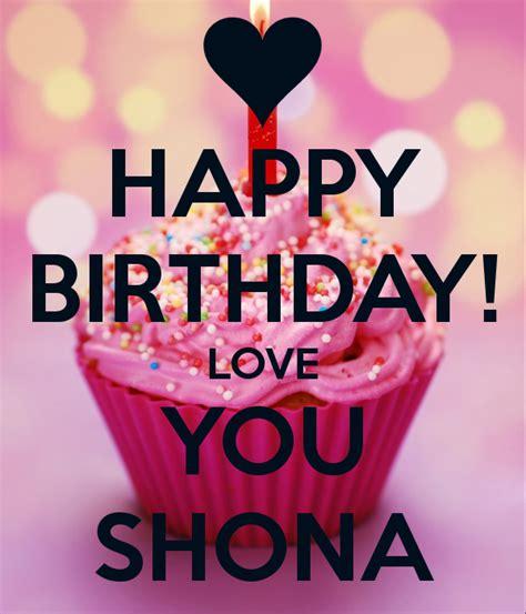 happy birthday love  shona poster ay   calm