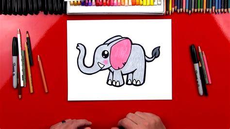draw  cartoon elephant art  kids hub