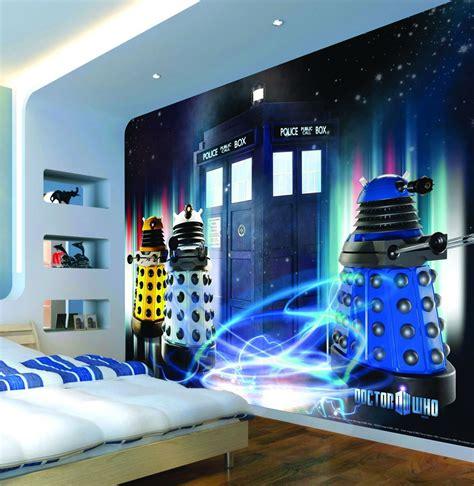 Tardis Bedroom by Tardis And Dalek Wall Decal Kid S Room Doctor Who