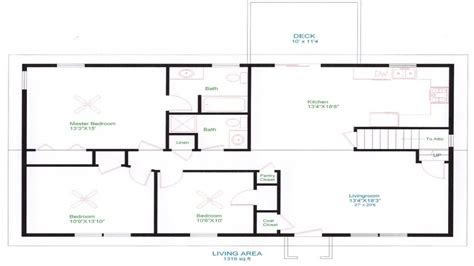 Ranch House Plans Open Floor Plan by Ranch House Floor Plans Unique Open Floor Plans Easy To