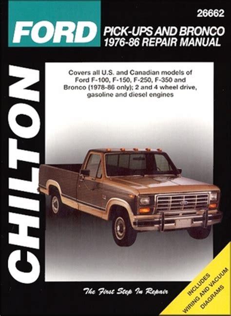 auto repair manual free download 1986 ford f series parental controls ford f100 f150 f250 f350 bronco repair manual 1976 1986 chilton