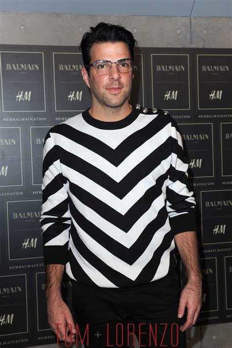 zachary quinto home zachary quinto at the balmain x h m collection launch