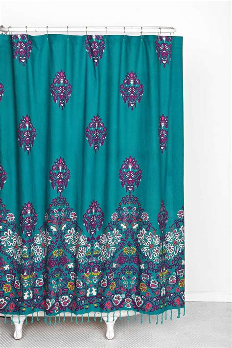 plum bow blomma shower curtain urban outfitters gaia