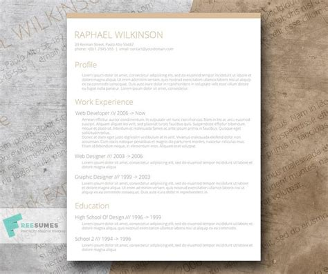 Resume For A Casual by 100 Free Resume Templates Psd Word Utemplates