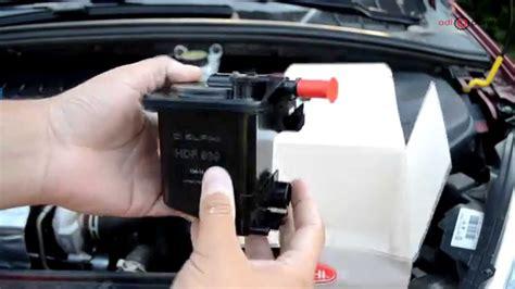 change fuel filter  hdi peugeot