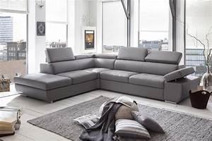 canape d39angle design en pu gris clair marocco canape d With tapis moderne avec canape d angle gris en cuir