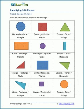 geometry worksheets  learning
