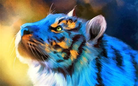 Digital Tiger Wallpaper by Digital Animals Tiger Wallpapers Hd Desktop And