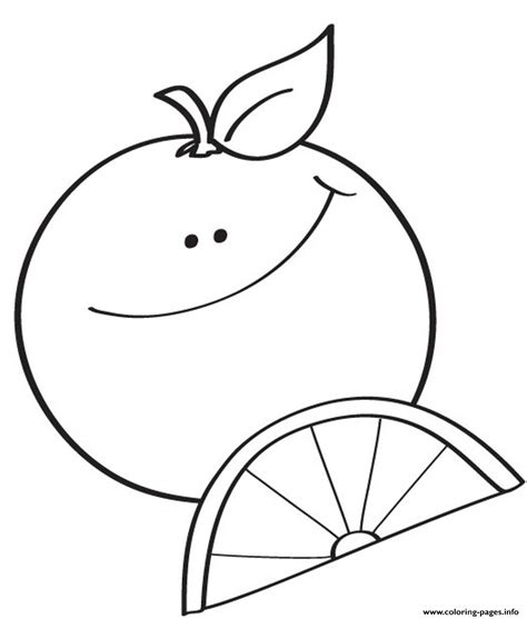 Coloring Oranges by Happy Orange S3ffe Coloring Pages Printable