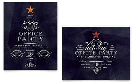 office holiday party graphic design ideas stocklayouts blog