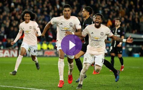 UEFA Champions League - PSG 1-1 Manchester United - Live!