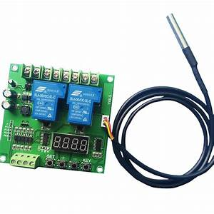 Temperature Controlled Two  Dual Relay Switch Module