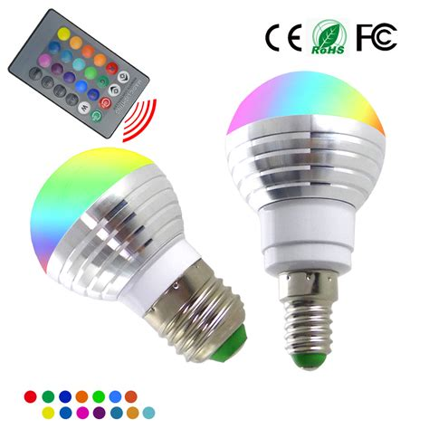 new e14 e27 rgb led bulb 5w 16 color change l led