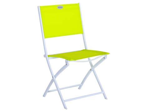 chaise blanche conforama chaise pliante de jardin tabarca coloris