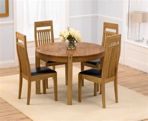 Mark Harris Verona Solid Oak 110cm Round Dining Table with ...