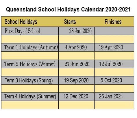 queensland qld school holidays    letter