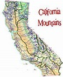 Image result for major mountain ranges in california map ...