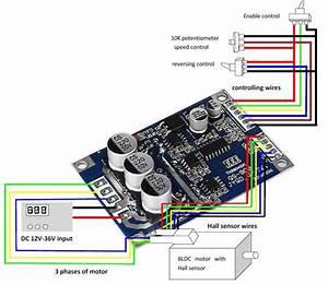 24v 15a 500w Brushless Dc Motor Driver Hall Sensor