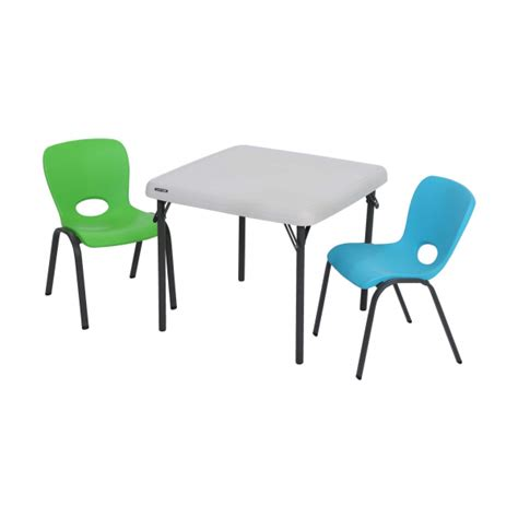 lifetime kids table and chairs lifetime children 39 s square 24 inch folding table almond