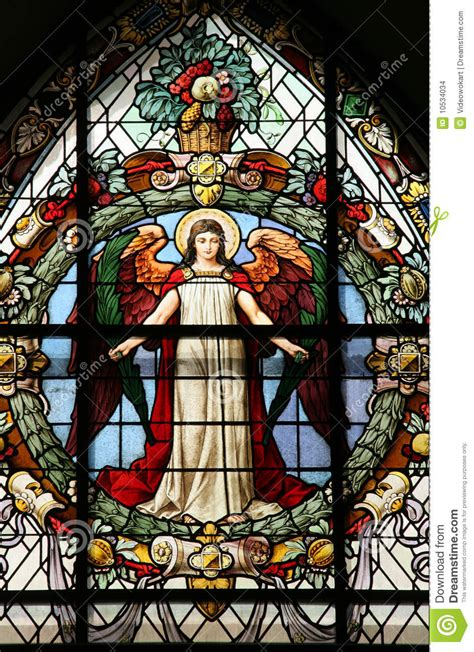 beautiful stained glass window stock images image