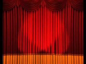 Opening Curtains Lights Flashing Stage Animation Anime ...