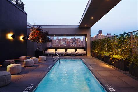amazing hotel  rooftop pools  nyc   swim