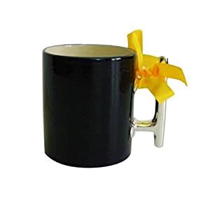 Coffee mugs are made of vitreous china and are dish washer safe. Amazon.com   Nautical Ceramic Coffee Mug with Silver Cleat Handle (Navy Blue): Coffee Cups & Mugs