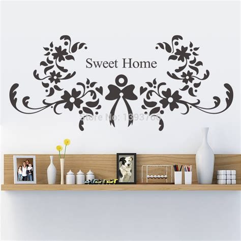 home sweet home decorative accessories sweet home wall stickers zyva 8375 vinyl wall decals bedroom living room wallpaper wedding