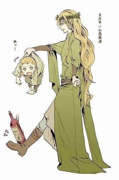 Legolas Thranduil Hobbit Lord Rings Anime Fanart