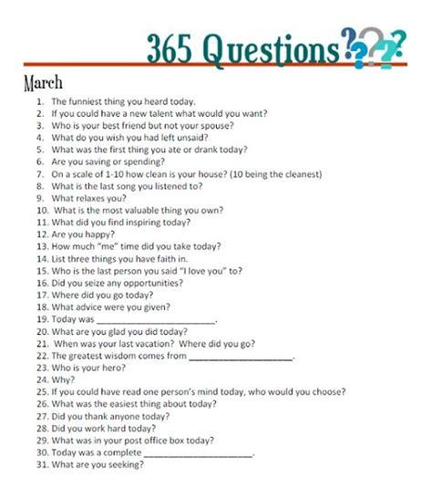 fun questions       write