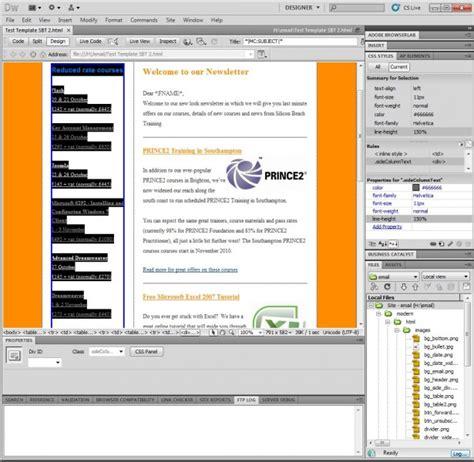 Dreamweaver Newsletter Templates by Dreamweaver Newsletter Template 28 Images 6