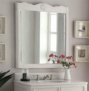 34, U0026quot, Antique, White, Daleville, Bath, Vanity, U0026, Mirror, Hf081aw