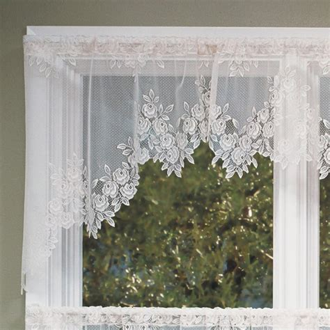 heritage lace tea swag pair modern curtains by