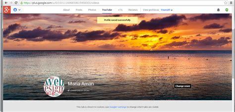 profil und hintergrundbilder im google profil und youtube