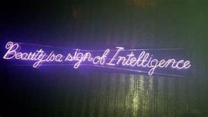 Beauty is a sign of intelligence Neon really
