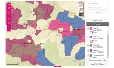 telekom ausbaukarte interaktive karte zeigt telekom