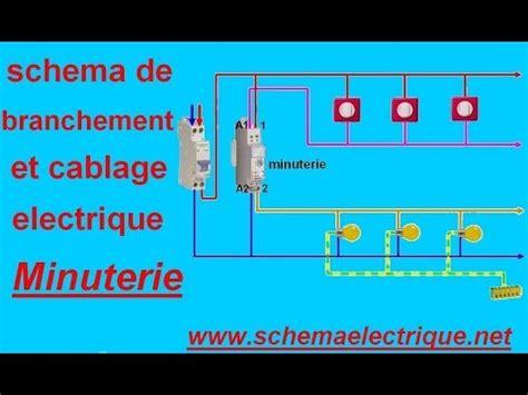 schema branchement cablage minuterie