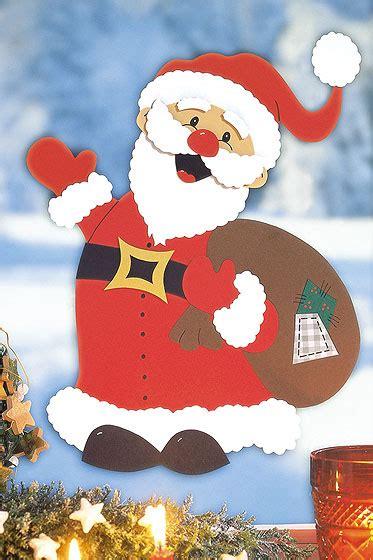 Bastelvorlagen Für Weihnachten Fensterbilder by Weihnachtsmann Basteln Familie De