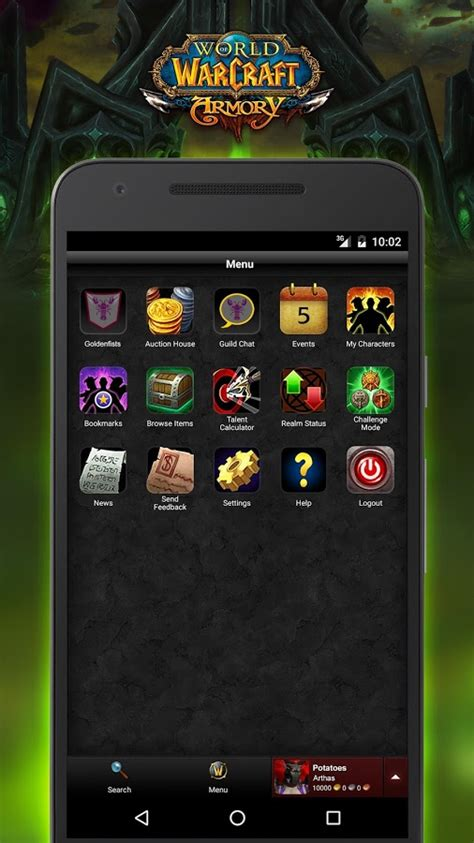 wow on android world of warcraft armory android apps on play