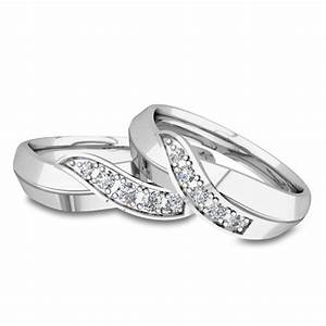 his and her matching wedding bands 14k gold infinity With infinity ring wedding band