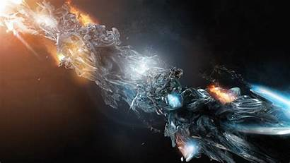 Fire Figure Liquid Energy Glow 1080p Screen