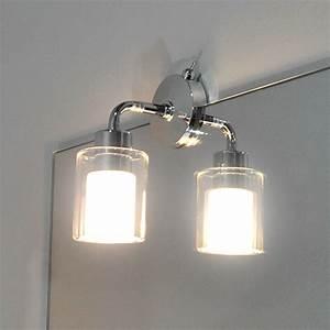 Spiegelleuchte Bad Led : design badleuchte spiegelleuchte chrom glas wandleuchte bad lampe schalter ebay ~ Buech-reservation.com Haus und Dekorationen