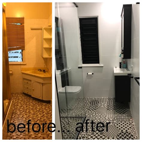 Before And After Small Bathrooms by Before And After Reveal Of A Small Bathroom Renovation