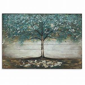 tree wooden plank wall art bed bath beyond With best brand of paint for kitchen cabinets with aspen tree canvas wall art