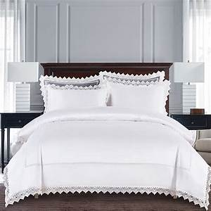 Luxury, White, Lace, Wedding, Bridal, Style, Full, Queen, Size, Bedding, Sets